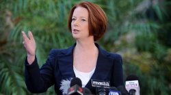 Julia Gillard at Adelaide Press Conference Source: Adelaide Now